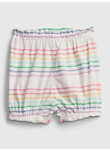 Gap Organik Pamuklu Çizgili Pull-On Şort Renkli
